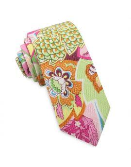 Pastel Floral Men's Skinny Tie