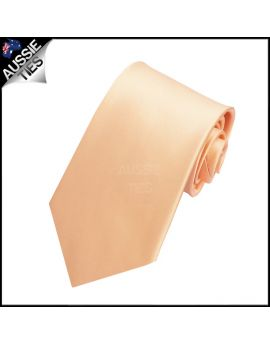 Boys Peach Apricot Plain Necktie