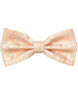 Peach Floral Bow Tie