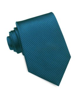 Peacock Blue Woven Texture Mens Tie