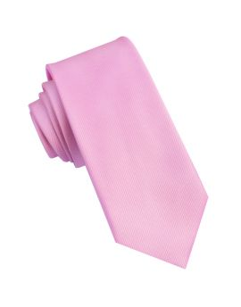 Pink Ribbed 6cm Mens Slim Tie