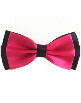 Pink with Black Back Bow Tie