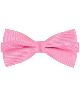 Pink with Small Polka Dots Bow Tie