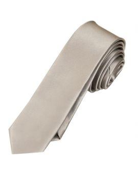 Mens Champagne Platinum White Gold Skinny Tie