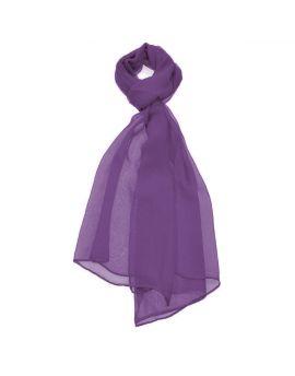 Plum Purple Chiffon Scarf