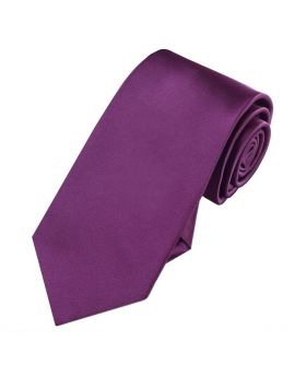 Plum Grape Purple 7cm Slim Tie