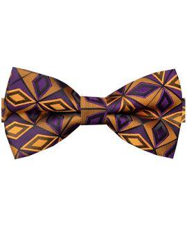 purple and orange bow tie