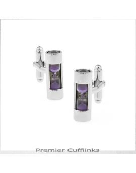 Purple Hourglass Cufflinks