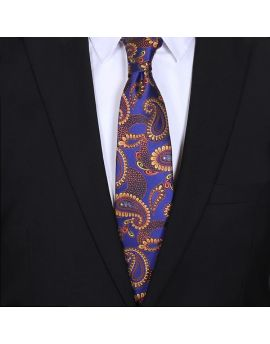 mens  purple and gold paisley tie