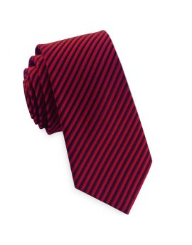 Red & Black Thin Stripes Mens Tie