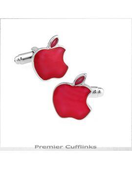 Red Apple Cufflinks