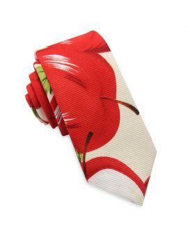 red apples skinny tie
