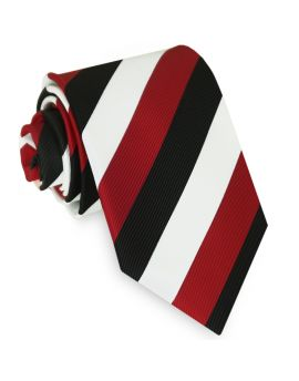 St Kilda colours tie red black and white tie