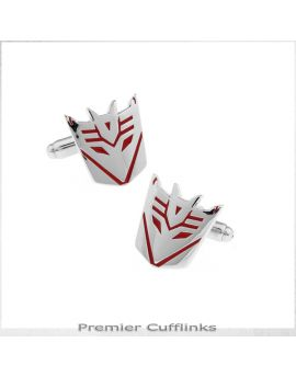 Red Decepticon Cufflinks