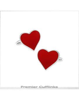 Red Love Heart Cufflinks