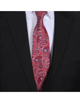 Red, Blue & White Paisley Mens Tie