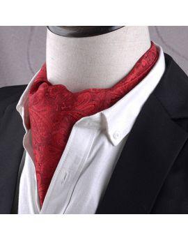 Red Paisley Ascot Cravat