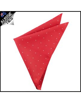 Scarlet Red Pin Dot Pocket Square Handkerchief