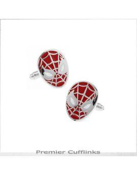 Red Spiderman Cufflinks