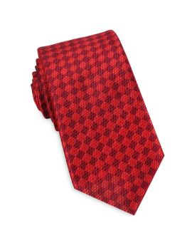 Red Textured Diamonds Slim Tie