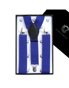 Men's Electric Blue Large Braces Y3.5cm