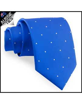 Royal Blue Pin Dot Mens Tie
