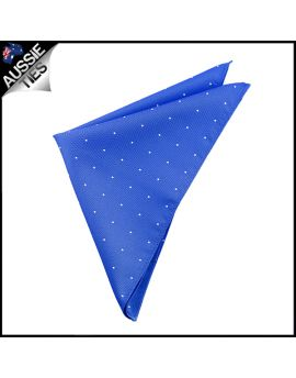 Royal Blue Pin Dot Pocket Square Handkerchief