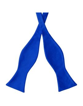 Royal Blue Self Tie Bow Tie