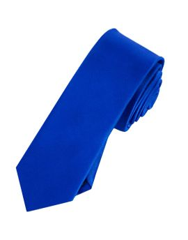 Mens Royal Blue Skinny Tie