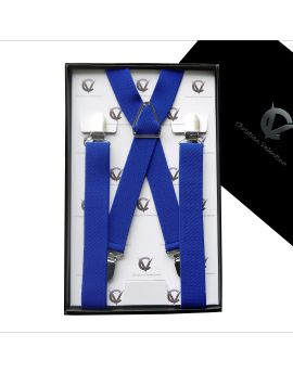 Men's Electric Blue X2.5cm Large Braces