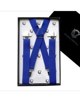 Men's Electric Blue X2.5cm Large Braces