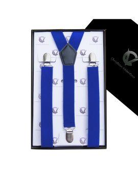 Men's Electric Blue Braces Y2.5cm