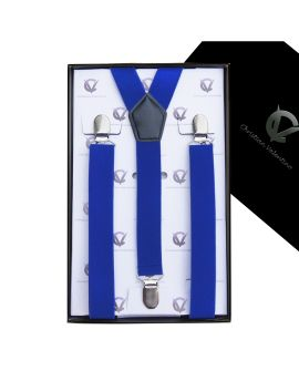 Boy's Electric Blue Braces Suspenders Y2.5cm