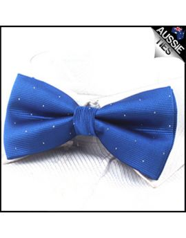 Royal Blue with small polka dots bow tie