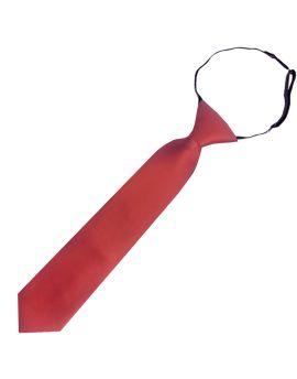 Rust Junior Boys Elasticated Tie