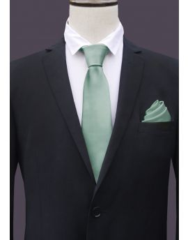 Sage Green Tie and Pocket Square