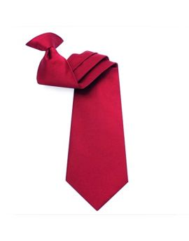 Mens Scarlet Red Clip On Tie