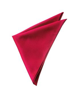 Mens Scarlet Red Pocket Square