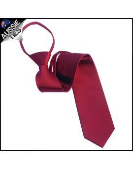 Mens Scarlet Red 5cm Zipper Tie