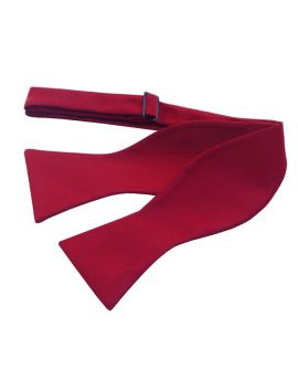 Scarlet Red Self Tie Bow Tie