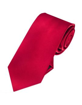 Mens Scarlet Red 7cm Slim Tie