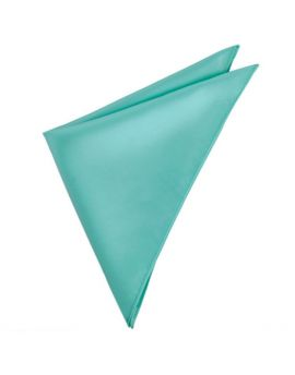 Mens Sea Mist Turquoise Pocket Square