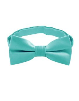 boy's turquoise green bow tie