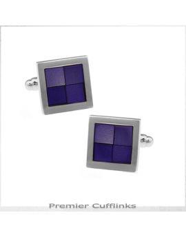 Shades Of Dark Purple Squares Cufflinks