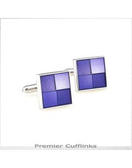 Shades Of Light Purple Squares Cufflinks