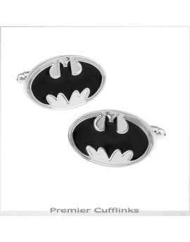 Silver and Black Batman Cufflinks