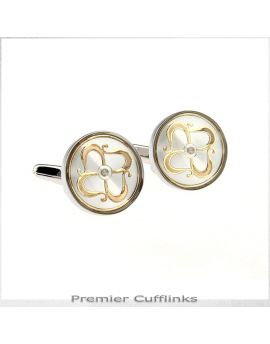 Silver and Gold Antique Design Cufflinks