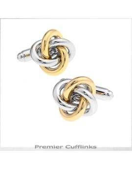 Silver and Gold Knot 2  Cufflinks