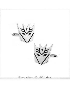 Silver Decepticon Cufflinks