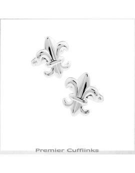 Silver Fleur De Lis Cufflinks
